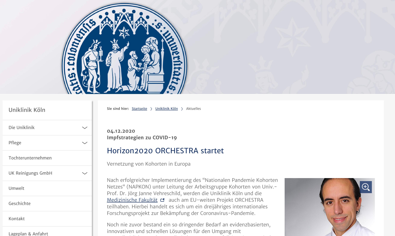 Horizon2020 ORCHESTRA startet