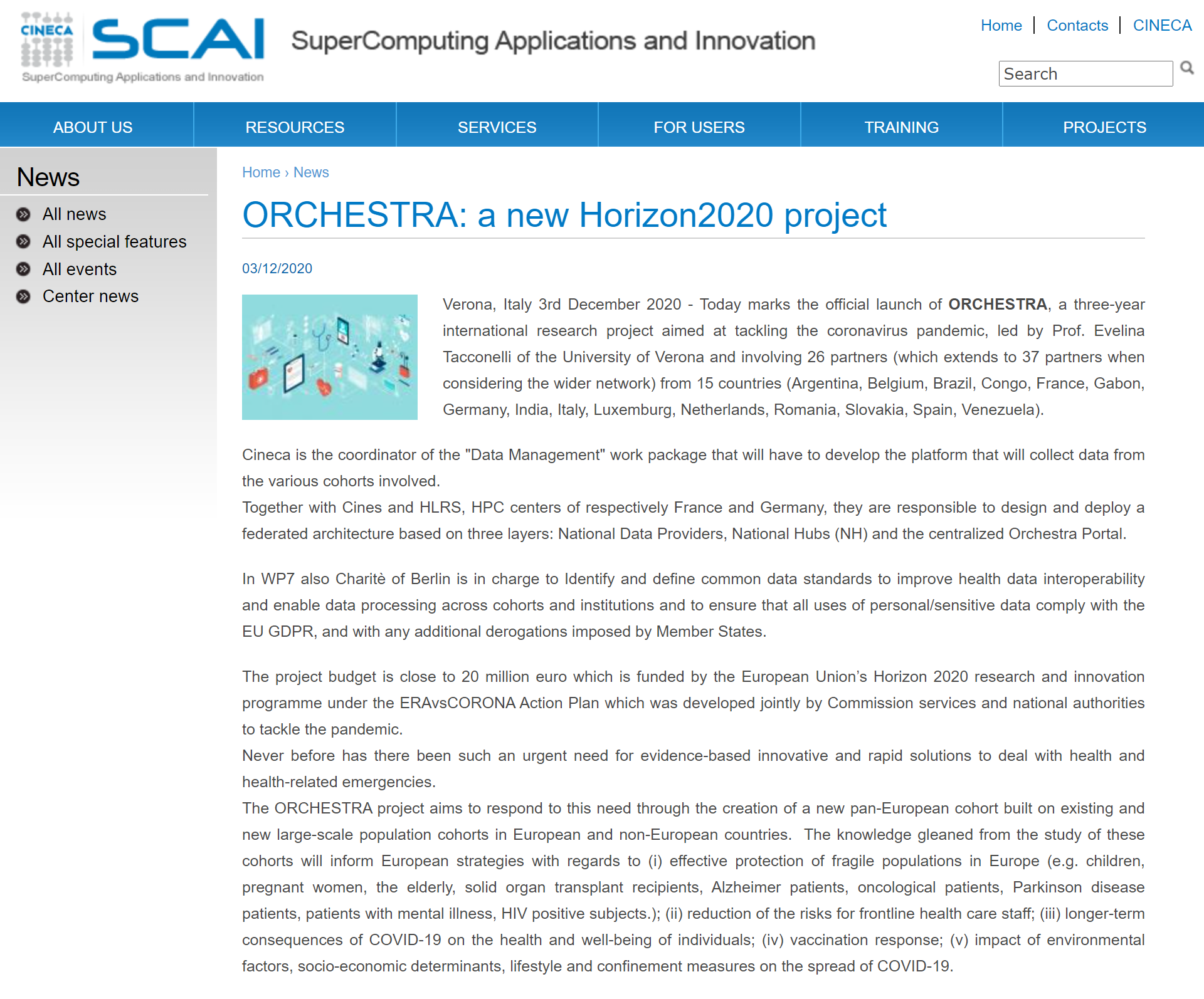 ORCHESTRA: a new Horizon2020 project